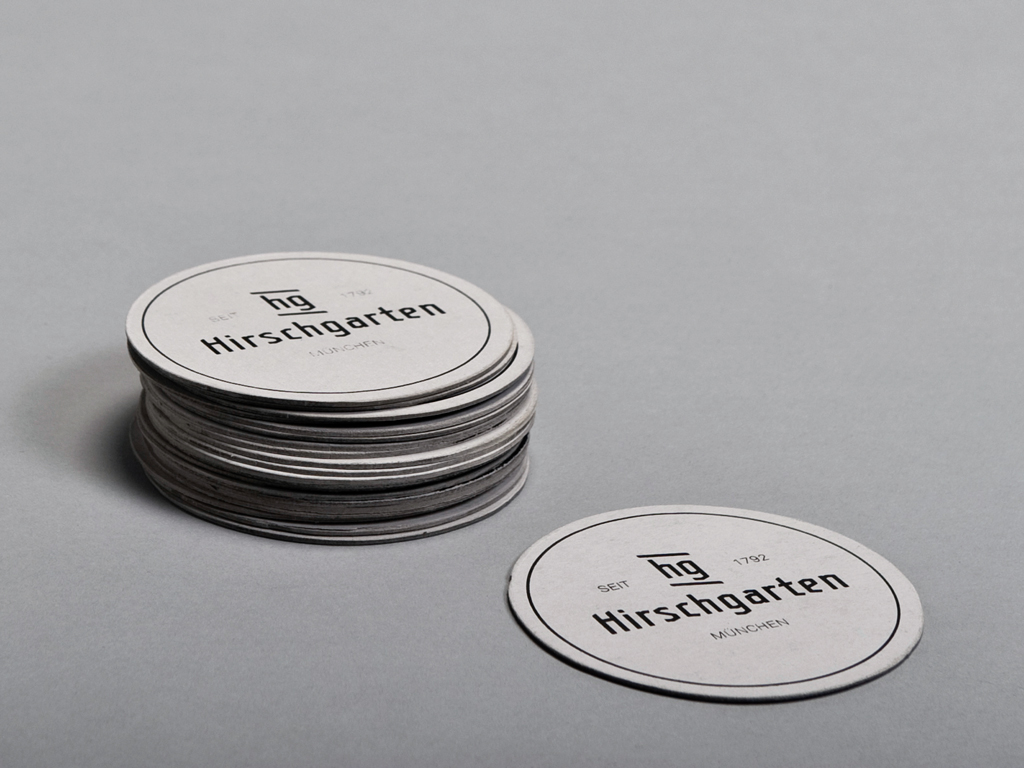 Coasters for the Hirschgarten Rebranding Project